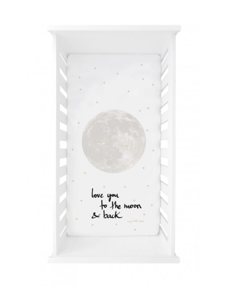 Drap housse Love you to the Moon and back - Mylowonders