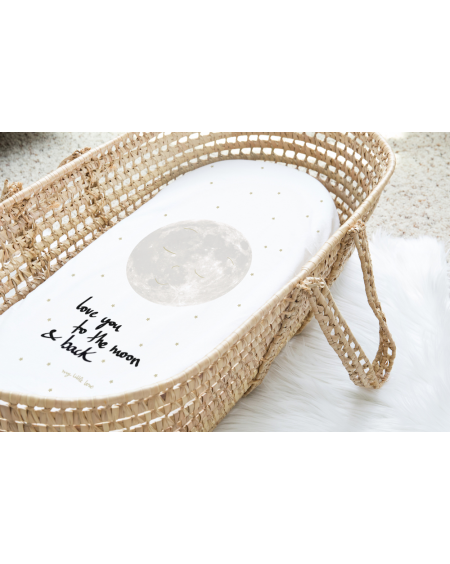 Crib-sheet Love you to the Moon and back - Mylowonders