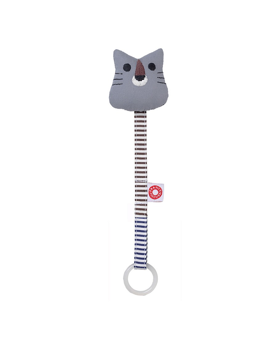 Soother holder grey Tiger - Franck Fischer - mylowonders