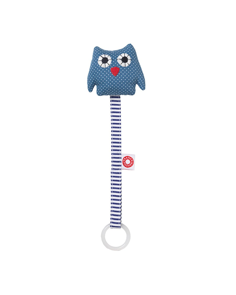 Soother holder blue owl - Franck Fischer - mylowonders