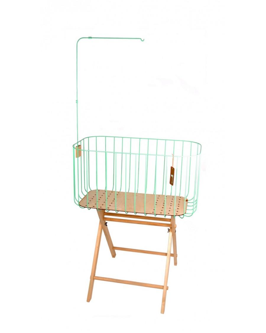 Mint baby crib - andme - mylowonders