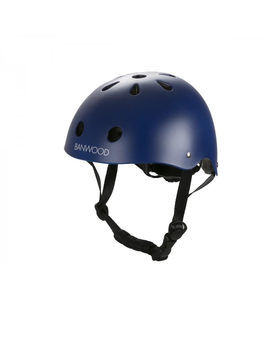 Classic Helmet - matte navy - banwood - mylowonders