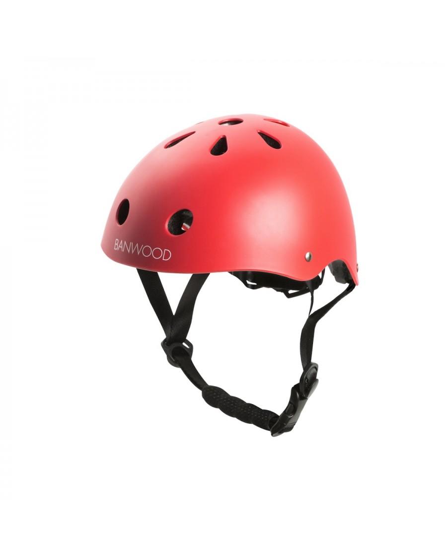 Classic Helmet - Matte Red - banwood - mylowonders