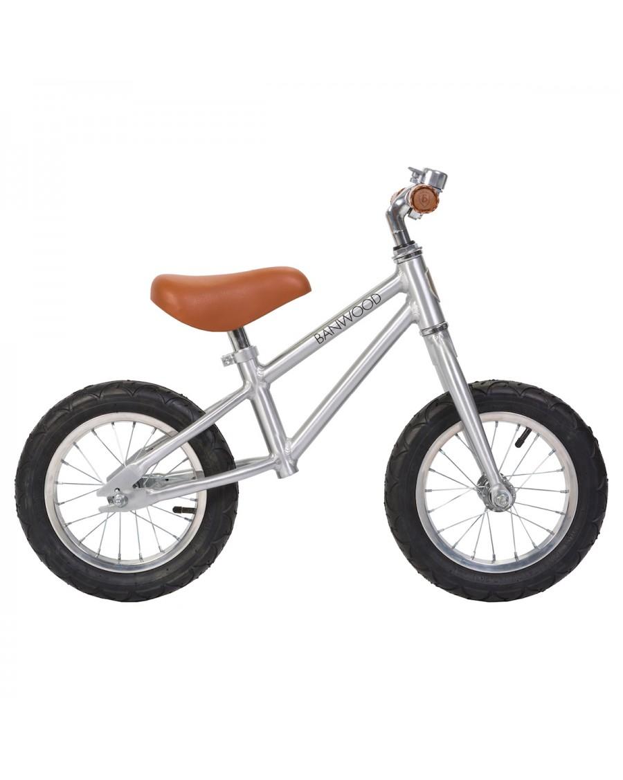 Draisienne First Go - Chrome - édition limitée - Vélo Sans Pédales enfant - banwood - mylowonders