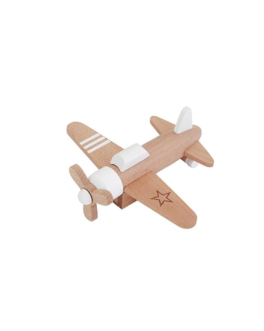 Avion à hélices en bois - kukkia - mylowonders