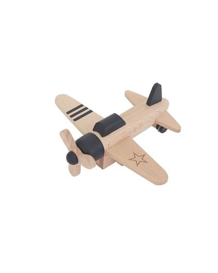 Wooden Wind-up Propeller Plane - kukkia - mylowonders