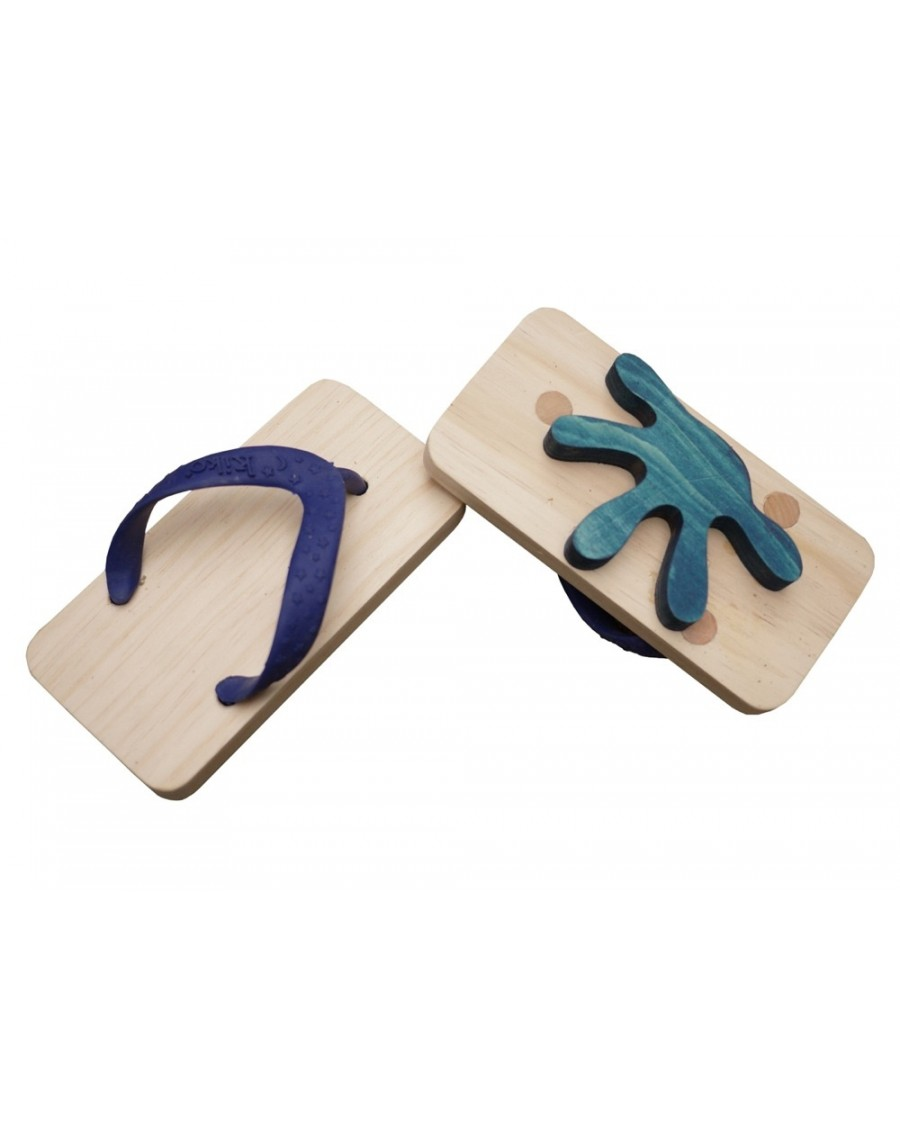 Blue Navy Animal Flipflop footprints - kukkia - mylowonders
