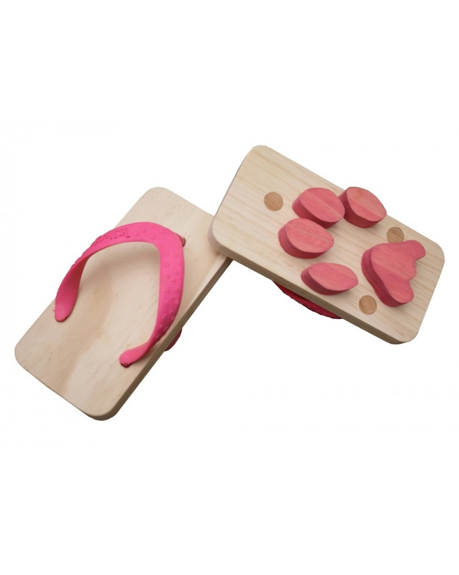 Pink Animal Flipflop footprints - kukkia - mylowonders