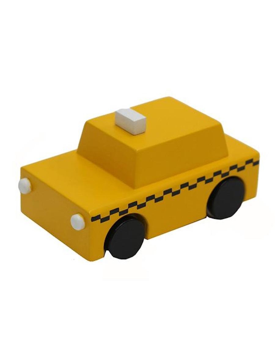 NYC yellow taxi wooden toy - kukkia - mylowonders