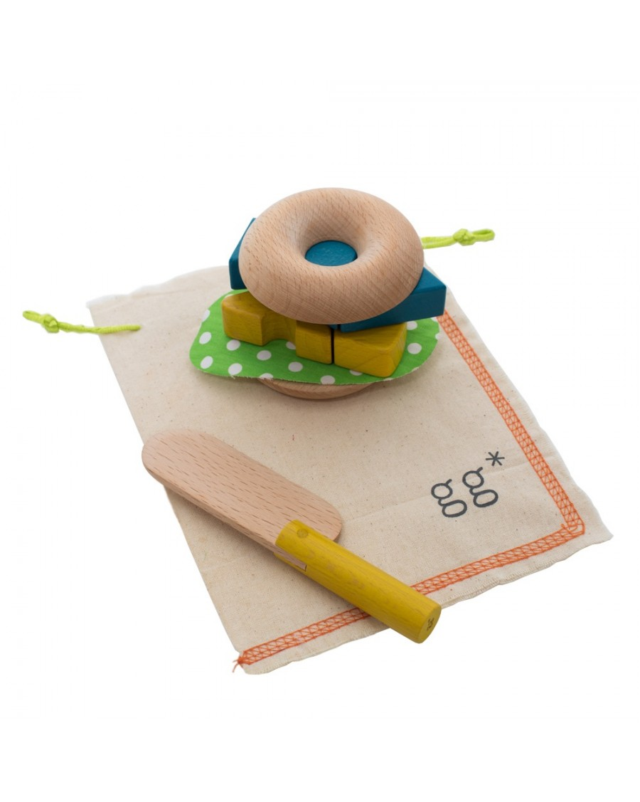 Make your own bagel - wooden toy set - kukkia - mylowonders