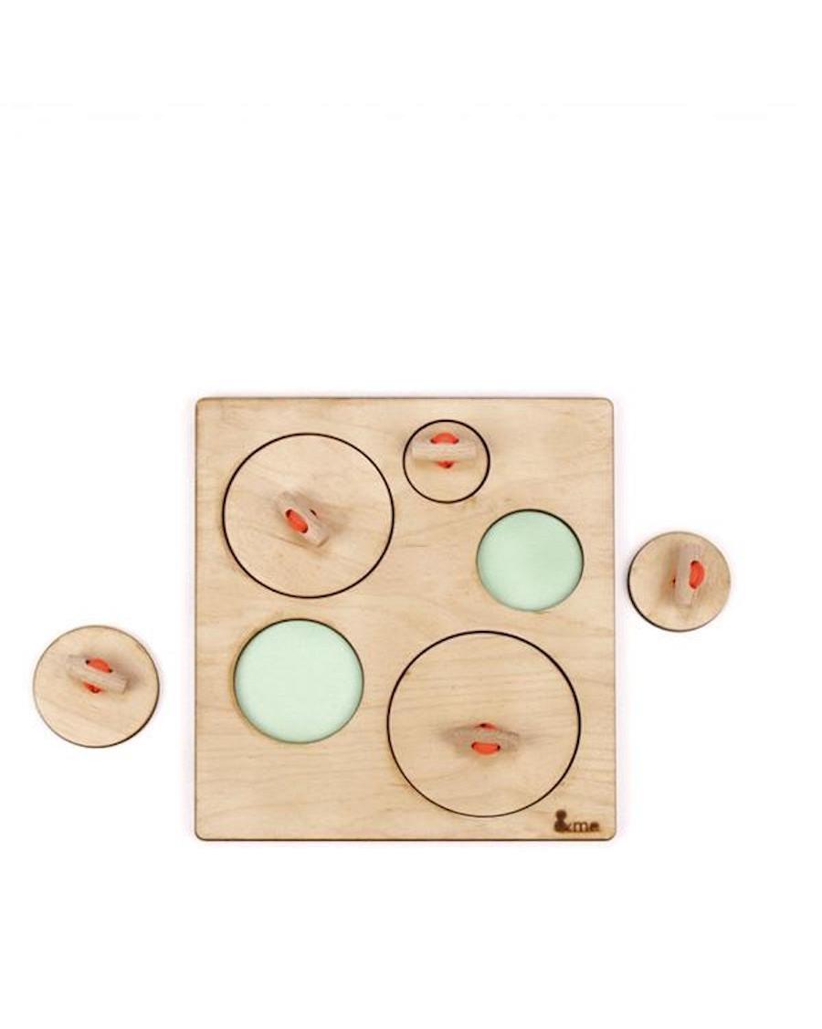 Puzzle cercles en bois - andme - mylowonders