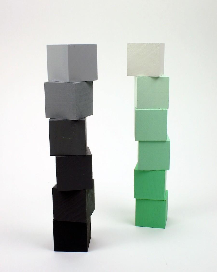 Cubes de construction colorés bois - andme - mylowonders