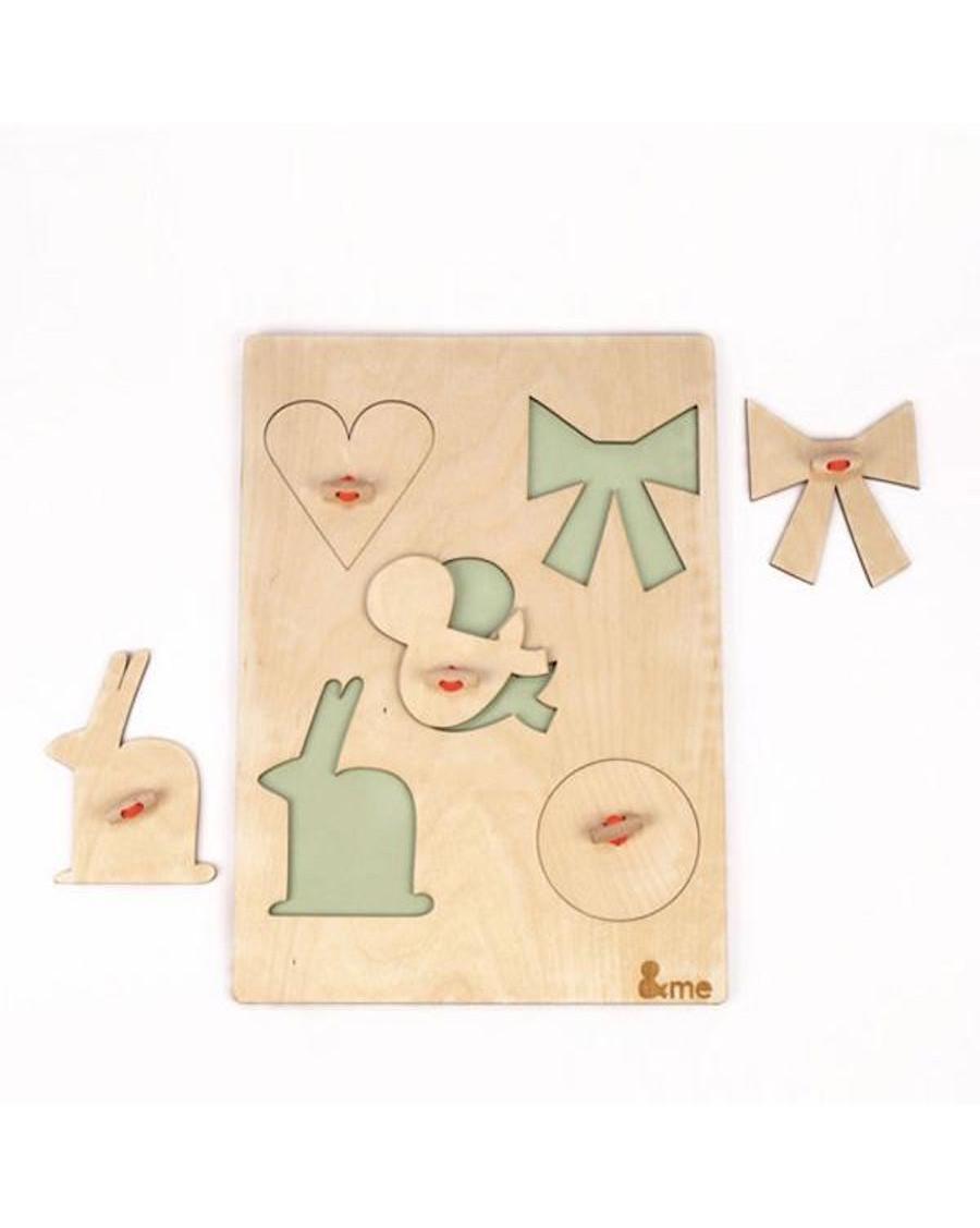 Wooden big puzzle - andme - mylowonders