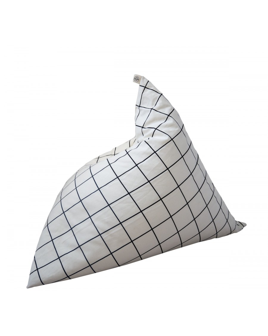 Grid Pyramid Bean Bag - wildfire teepees - mylowonders