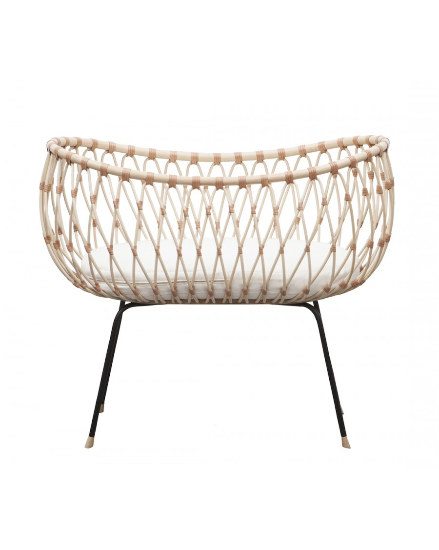 Handcrafted Rattan Cot - Emil | MyloWonders