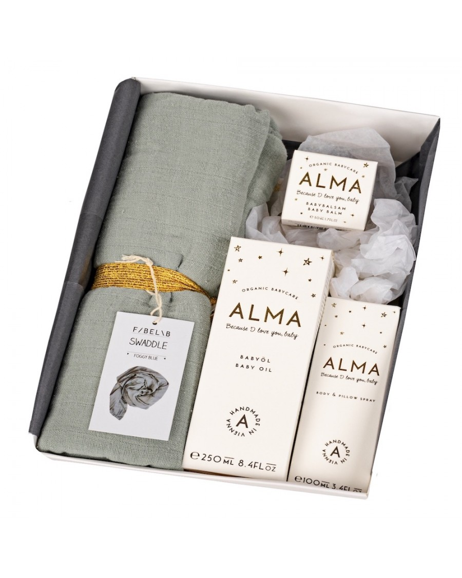 "Baby Box ""Hello World"" - Alma Babycare - MyloWonders"