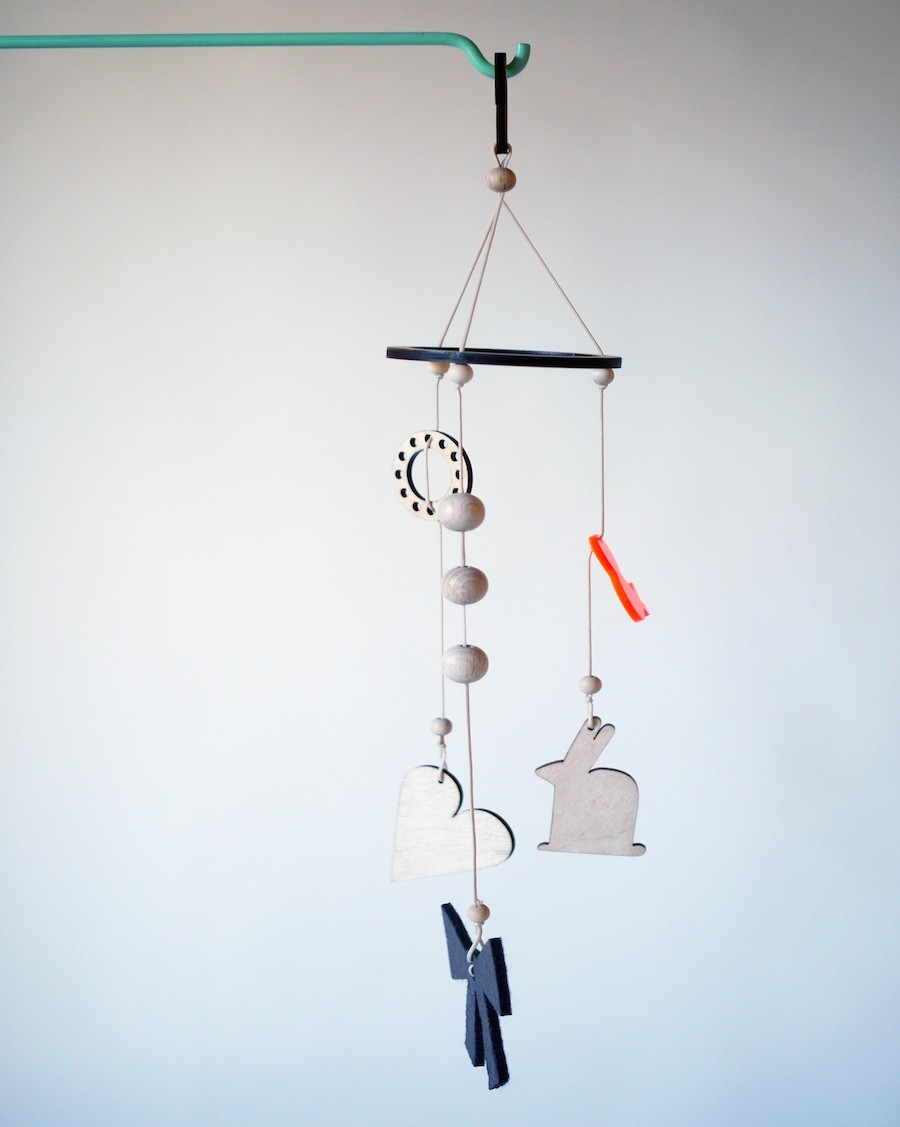 Off-white baby mobile - andme- mylowonders