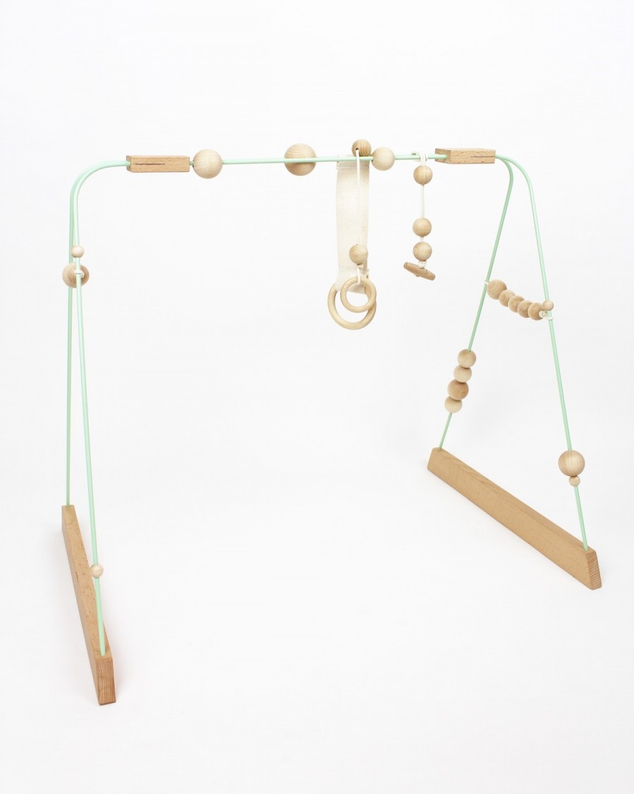 Baby gym mint, white and wood - andme - mylowonders