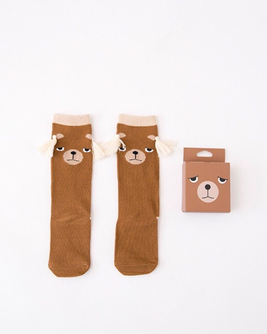 Chaussettes hautes Ours - mama siesta - mylowonders