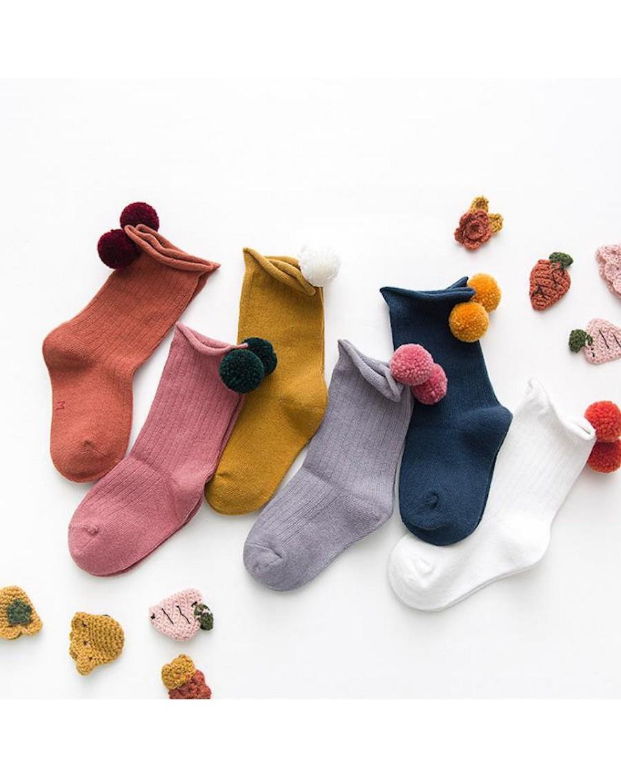 Pom Pom Socks - mama siesta - mylowonders