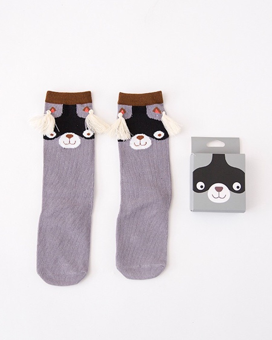 Raccoon Knee High Socks - mama siesta - mylowonders