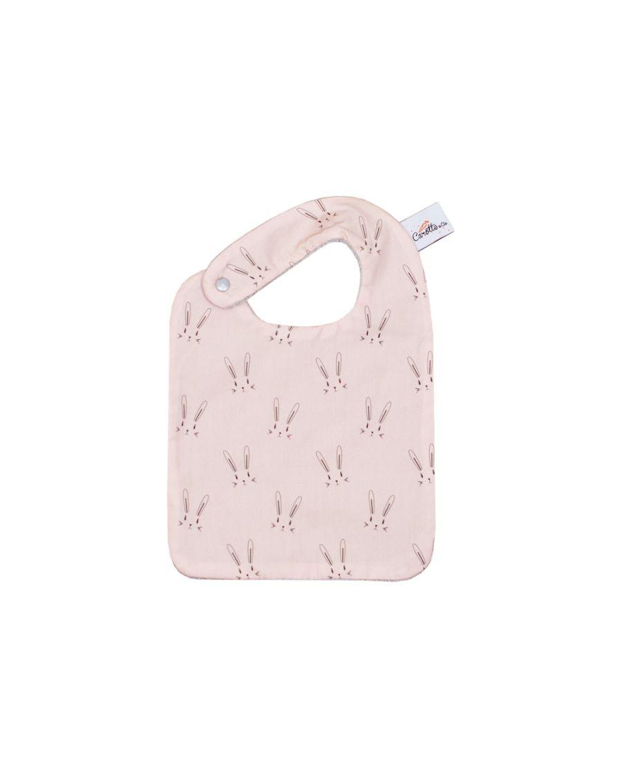 Bib - Pink rabbits - carotte cie - mylowonders