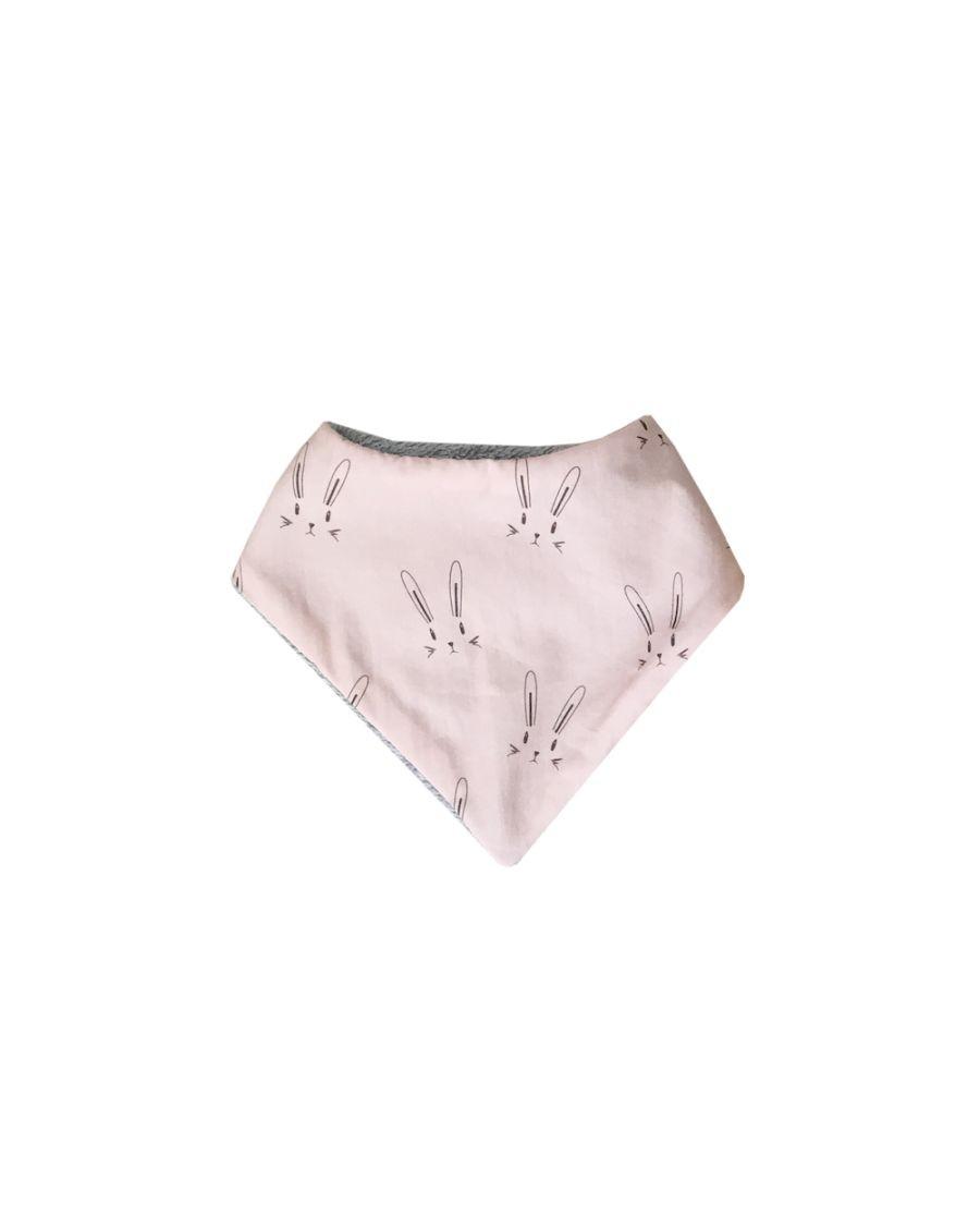Pink Bandana bib - Rabbits - carotte cie - mylowonders