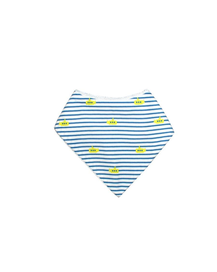 Bandana bib - Submarine stripes - carotte cie - mylowonders