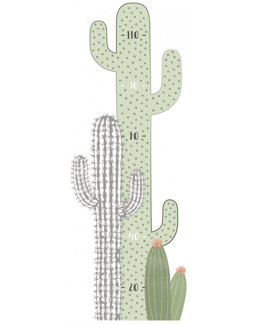 Toise sticker cactus - lilipinso - mylowonders