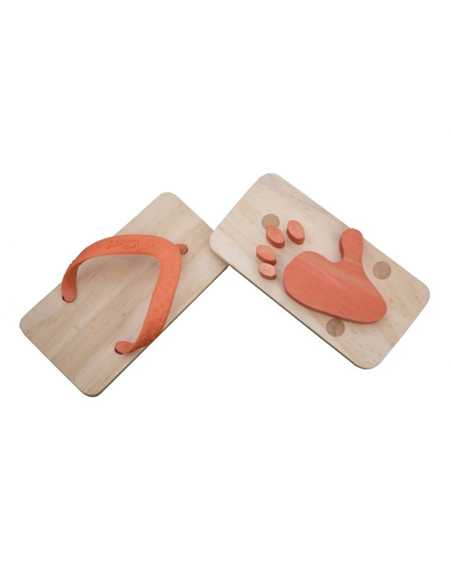 Orange Animal Flipflop footprints - mylowonders - kukkia