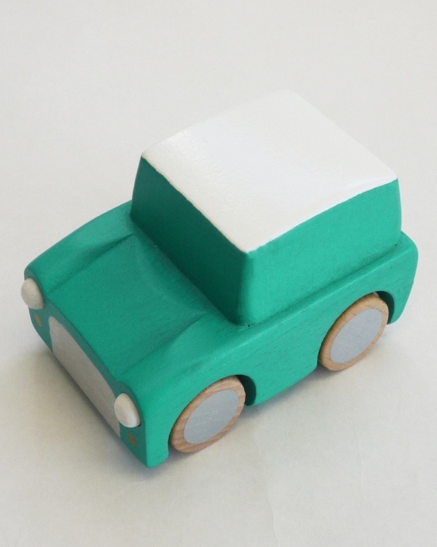 Wooden Wind Up Car - Green - kukkia - mylowonders
