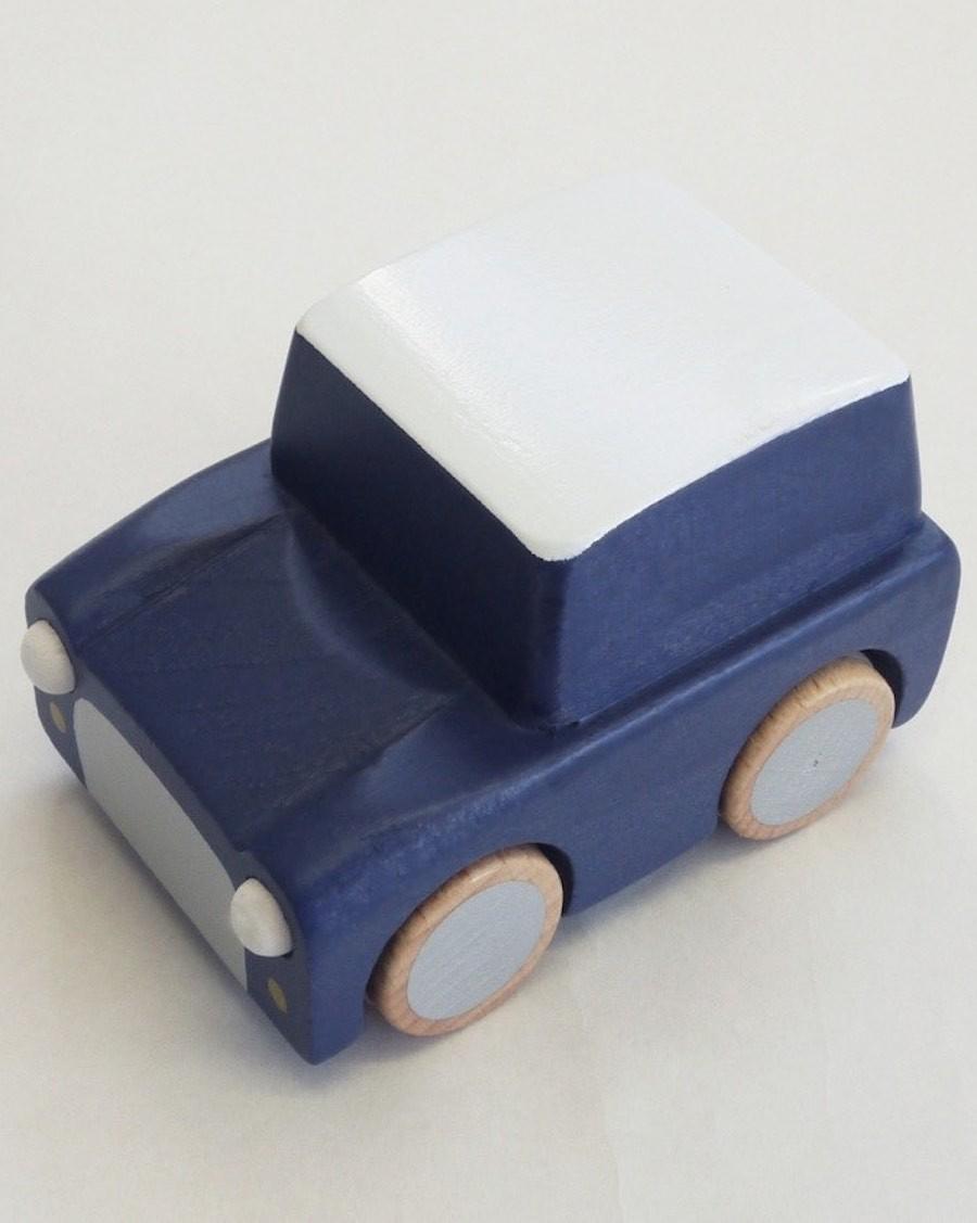Wooden Wind Up Car - Navy - mylowonders
