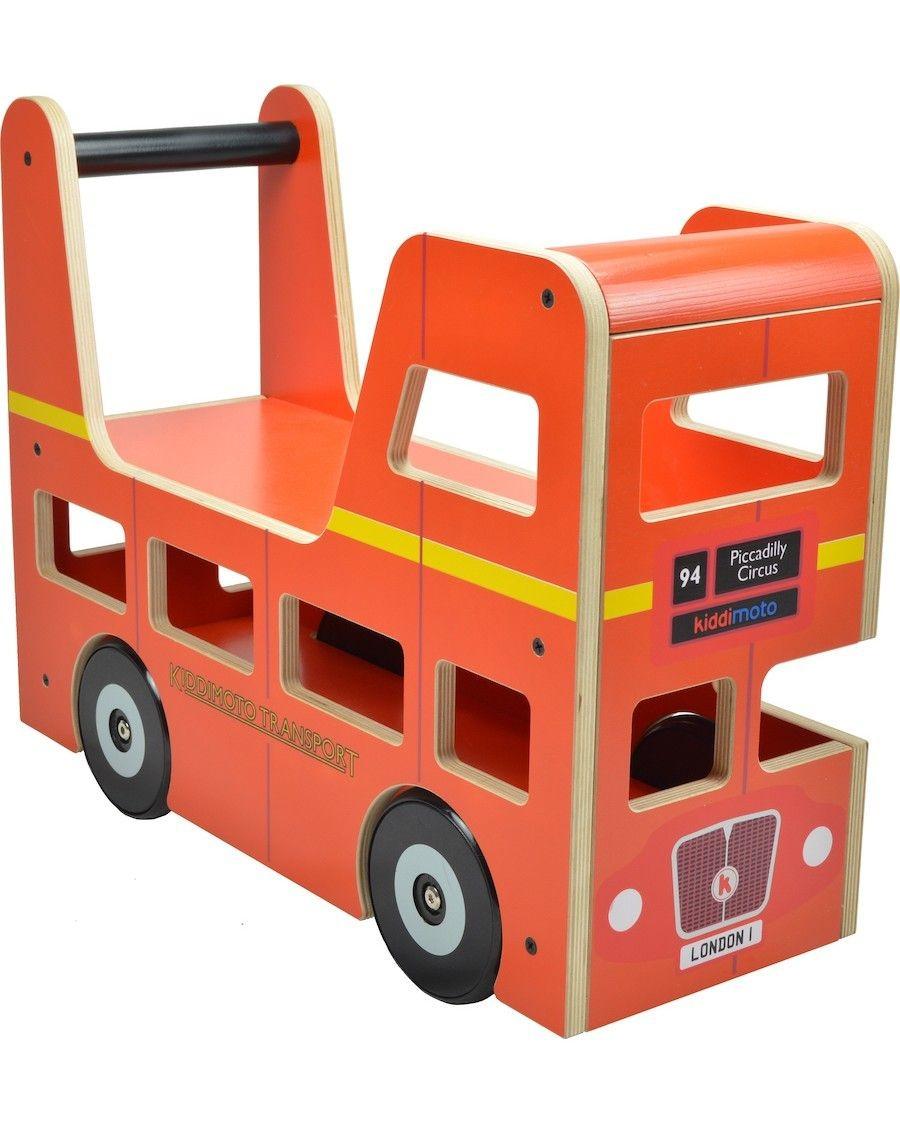 London Bus porteur et trotteur - kiddimoto - mylowonders