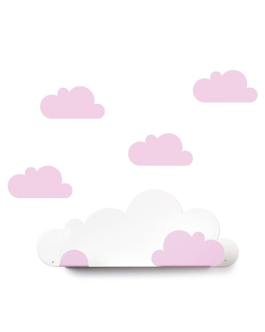 Etagère nuage & stickers rose | MyloWonders