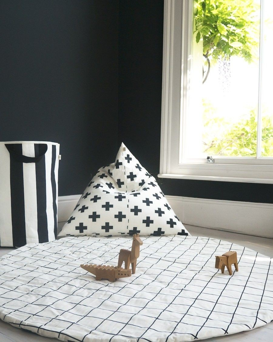 Grid/Cross Reversible Play Mat - wildfire teepees - mylowonders