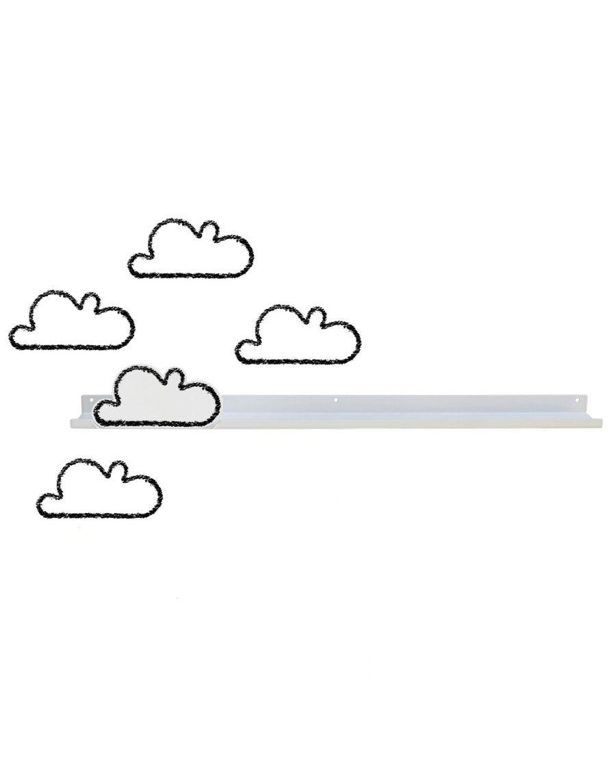 Longue étagère & stickers nuages - blanc - mylowonders