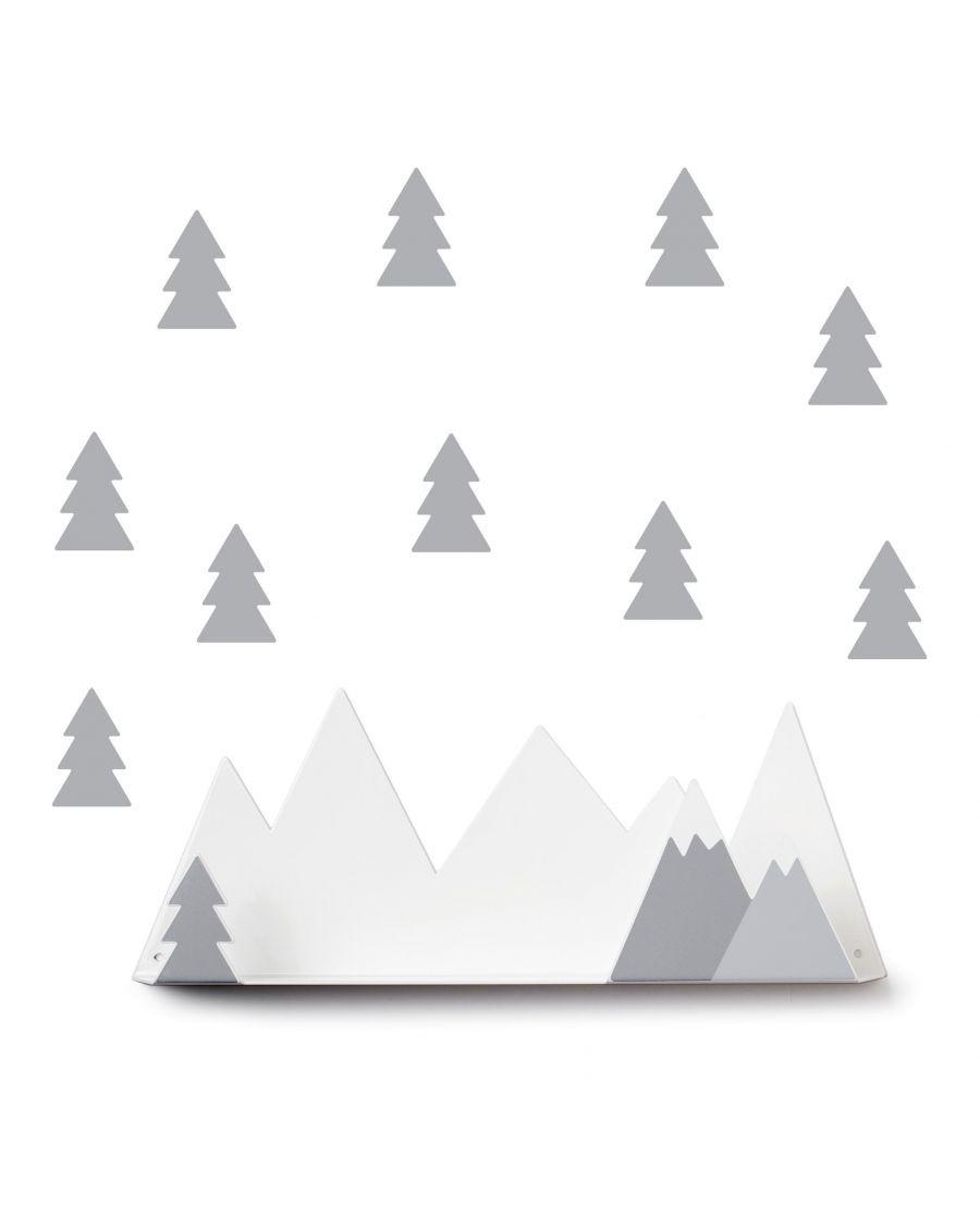 Etagère montagne & stickers gris - mylowonders