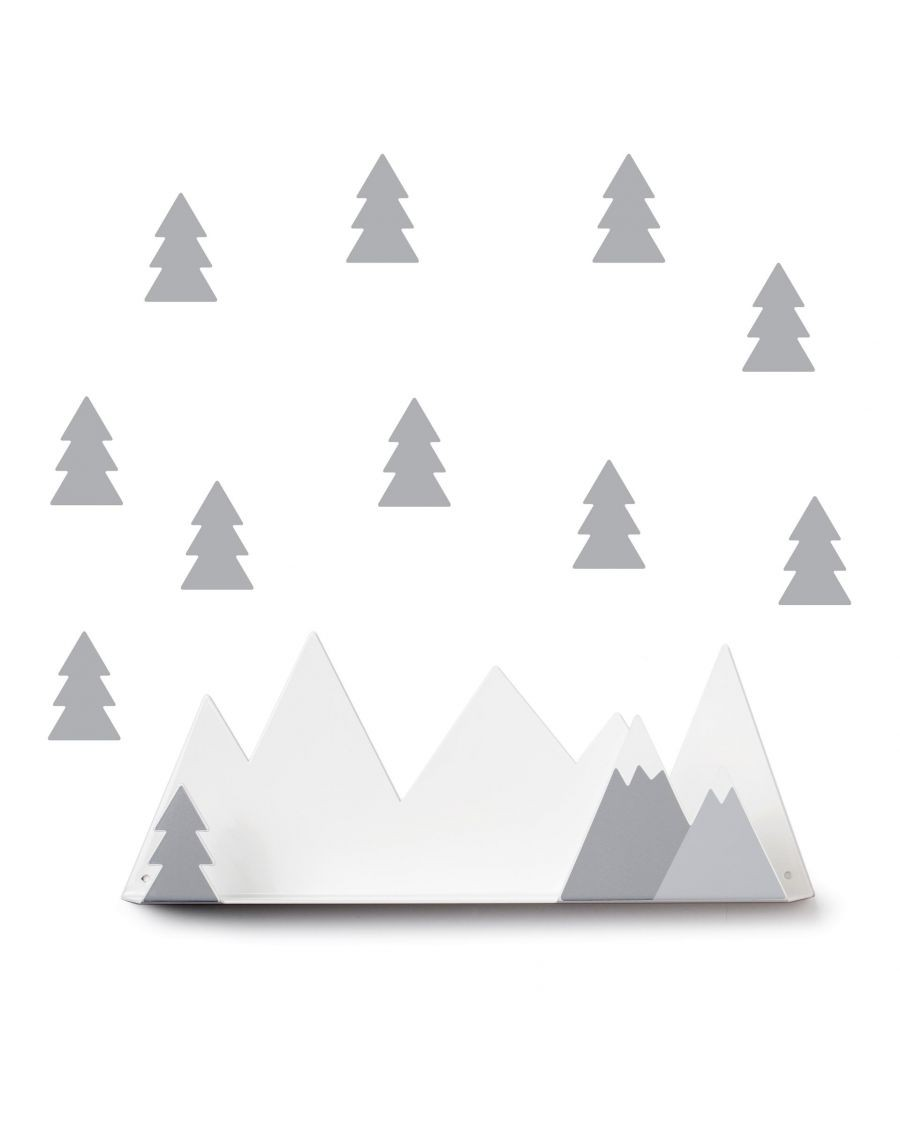 Shelf mountain & grey fir stickers - mylowonders