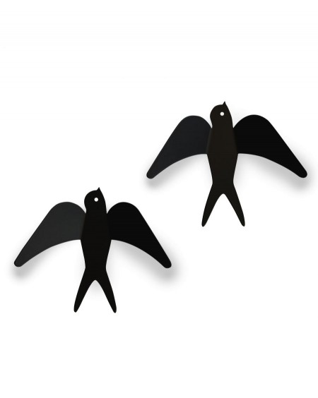 two wall hangers black swallows - MyloWonders