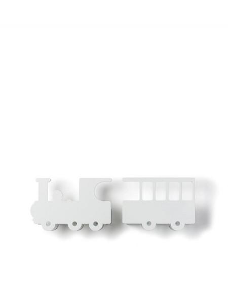 Train bookshelf - white - tresxics   Mylowonders