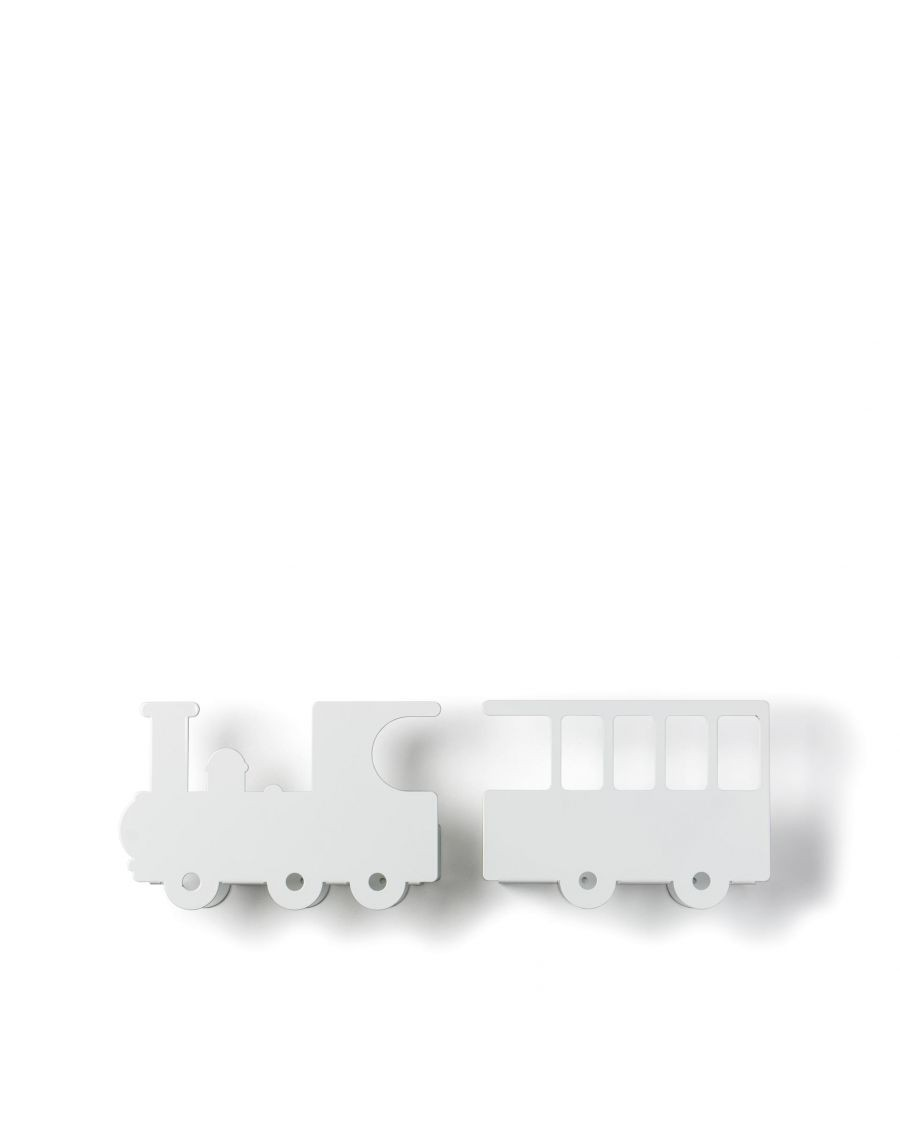 Train bookshelf - white - tresxics | Mylowonders