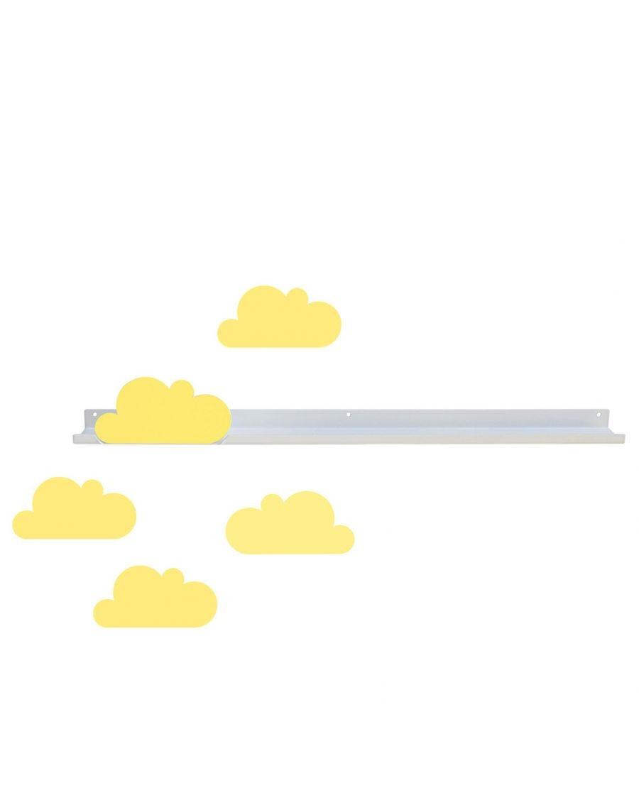 Long shelf & yellow cloud stickers - tresxics | Mylowonders