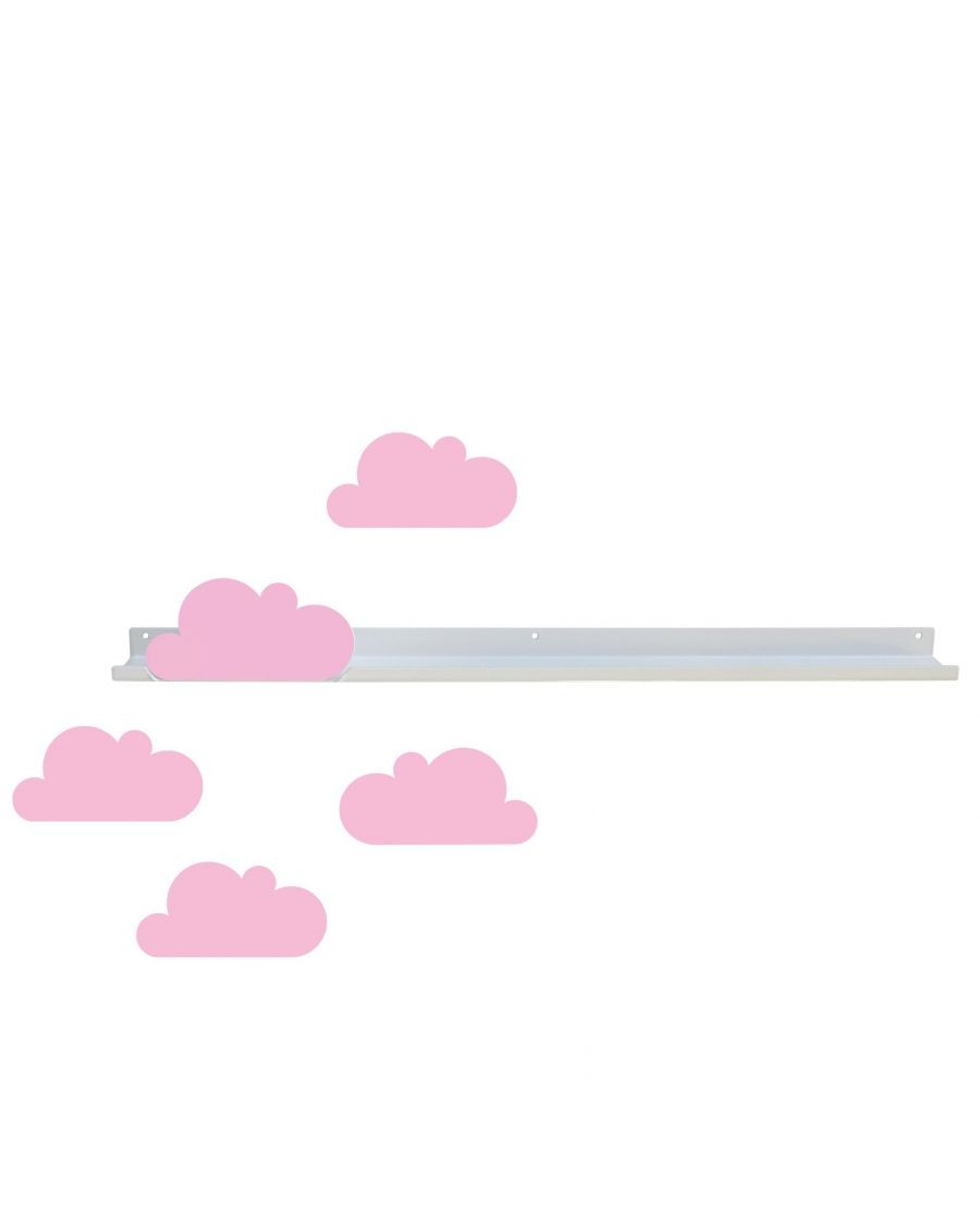 Long shelf & pink cloud stickers - MyloWonders