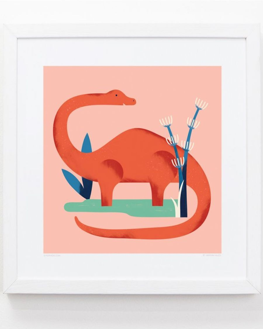 cadre Diplodocus chambre enfant evermade - mylowonders