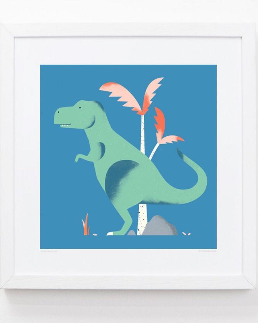 T-rex Frame kids room evermade - mylowonders