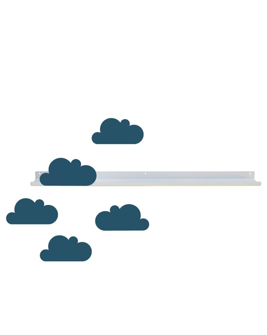 Long shelf & dark blue cloud stickers - MyloWonders