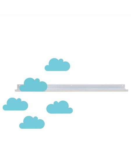 Longue étagère & stickers nuages bleu ciel - tresxics - mylowonders
