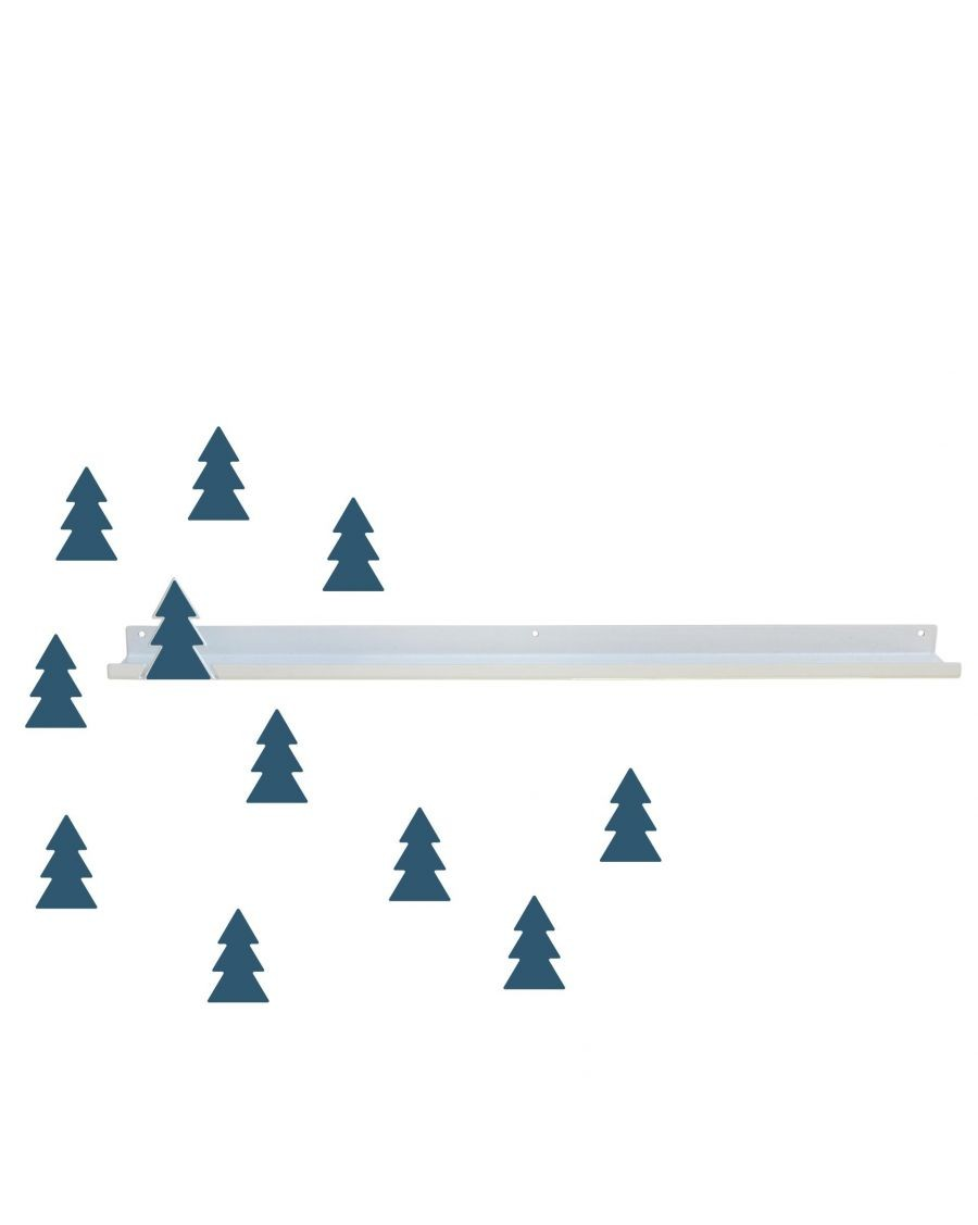 Long shelf & oil blue fir trees stickers - tresxics - MyloWonders