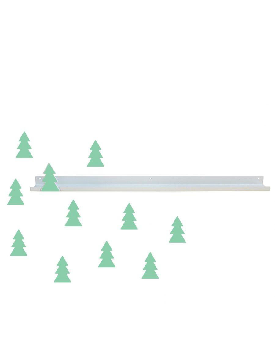 Long shelf & mint fir trees stickers - tresxics - mylowonders