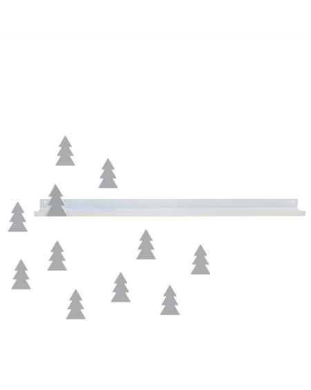 Longue étagère & stickers sapin gris - tresxics - mylowonders